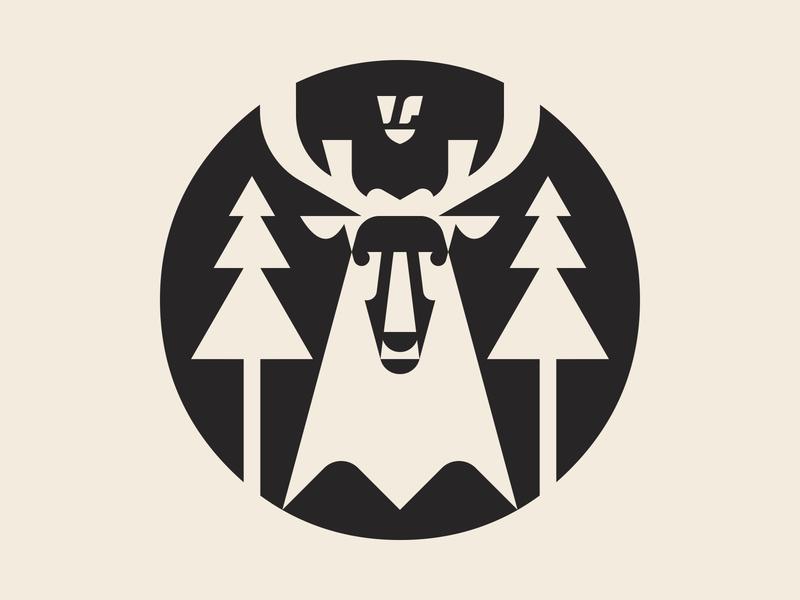 Tokoro Symbol (B&W) deer illustration logotype logo design branding brand icon logo symbol tokoro
