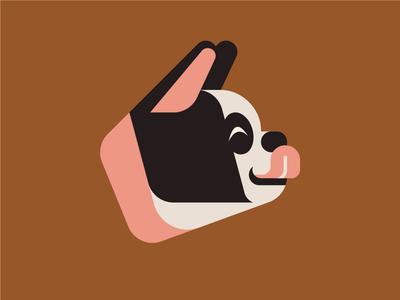 Boston Terrier head symbol label illustration artwork art design art component dog design joshbrill