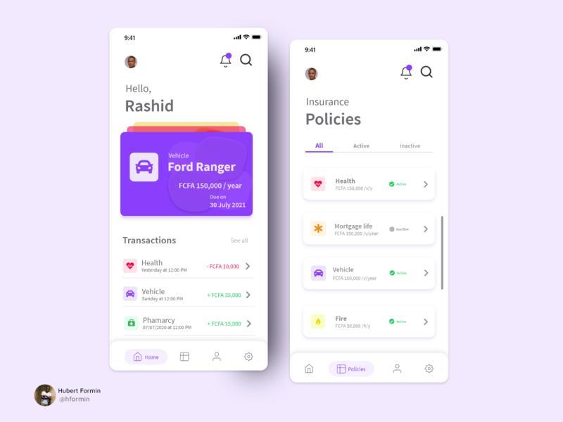 Insurance app web app uidesigner uidesign ui design