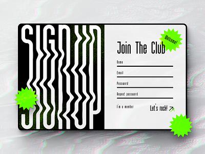 Daily UI :: 001 (Sign Up) webdesign modern illustrator daily 001 sign up signup daily ui daily 100 challenge typography dailyui technology uiux ui  ux ui design design ui uidesign