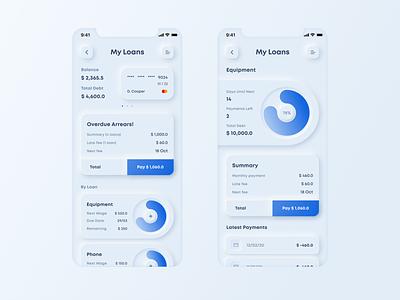 Daily UI :: 002 daily ui dailyui credit creditcard mobile banking loans loan neumorphism neumorphic webdesign web design minimalist minimalism uiux ui  ux ui design ui uidesign design