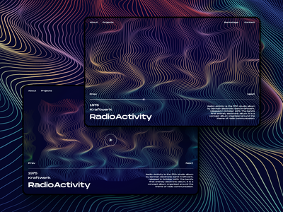 Graphic Web Design 2.0 music player graphicdesign illustrator blend electro electronic electric techno music landing page illustration vector website uiux ui  ux ui design uidesign ui design