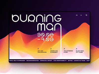 Daily UI :: 003 landing page webdesign futurism futuristic techno promo illustraion illustrator burningman typography website illustration graphic deisgn uiux ui  ux ui design uidesign ui design