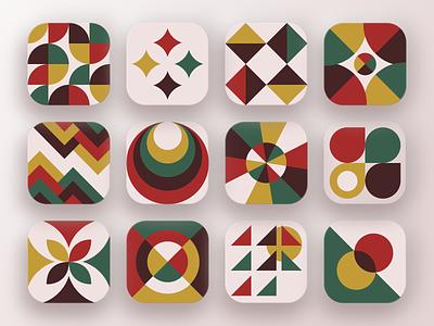 Daily UI :: 005 (App icon) colors color daily ui dailyui neo geo icons icon branding illustration vector minimalism ui  ux uiux ui design uidesign ui design