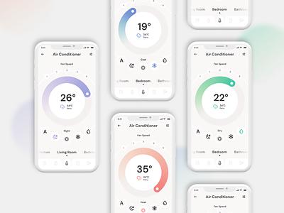 Daily UI :: 007 Settings. Smart Home App. app design app daily ui dailyui minimalist web design webdesign minimalism ui  ux uiux ui design uidesign ui design