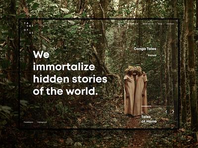 Tales of Us minimalist web design webdesign minimalism ui  ux ui uiux ui design uidesign design