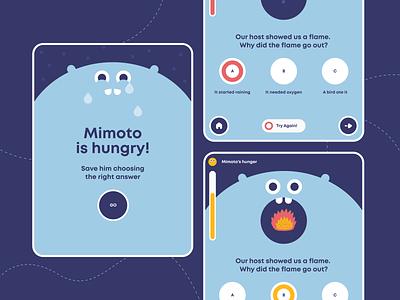Quiz Page - Portal for Children web design illustration minimalism ui  ux uiux ui design uidesign ui tablet game quiz children portal