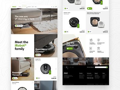 iRobot Landing Page minimalist web design webdesign minimalism ui  ux uiux ui design uidesign design ui