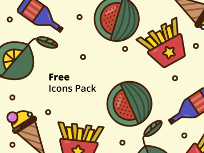 Free multicolored icons pack