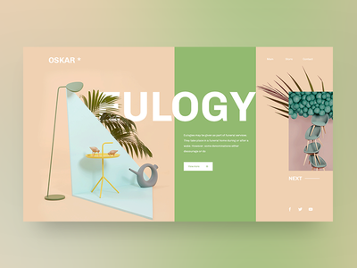 Eulogy style minimal userexperience userinterface ux ui plant oskar cosmetic layout color eulogy