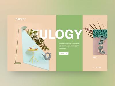 Eulogy style minimal userexperience userinterface ux ui plant oskar cosmetic layout color eulogy