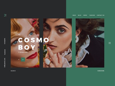 Cosmo Boy ui uidesign userinterface ux uxdesign userexperience graphicdesign photography boy cosmo color landing