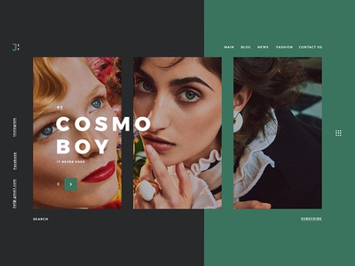 Cosmo Boy ui uidesign userinterface ux uxdesign userexperience graphicdesign photography boy cosmo color landing