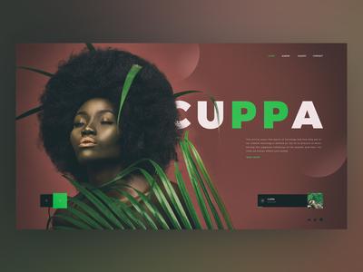 Cuppa music golden black girl web design ux ui page landing album easter