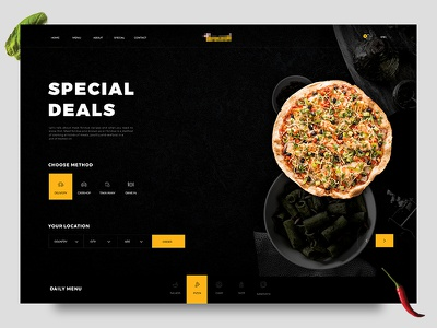 Pizzdets graphicdesign uidesign userexperience userinterface pasta simple design web ux ui menu pizza