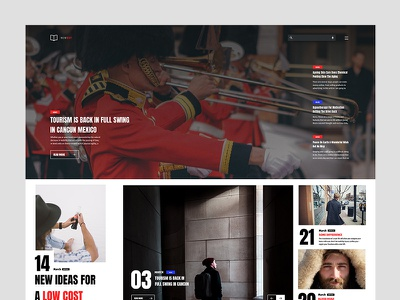 Newest userexperience userinterface design web simple layout magazine ux ui paper news