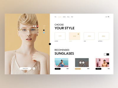 Glasses Store landing sunglasses store glasses photography graphicdesign userexperience uxdesign ux userinterface uidesign ui