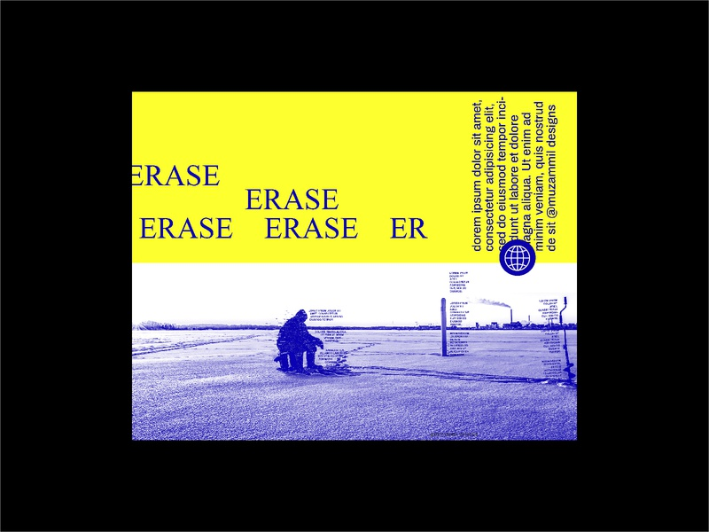 Erase type designchallenge posteraday everydaydesign posters concept typography poster collection poster best posters graphic  design baugasm artwork