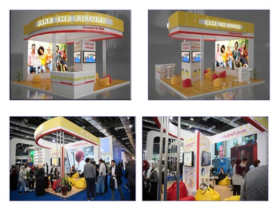 "shell ""make the future"" booth in Egypt petroleum show 2019"