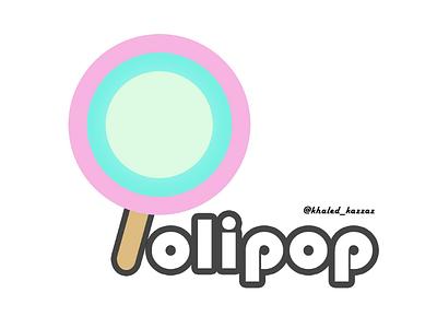Lolipop logo design ui branding candy