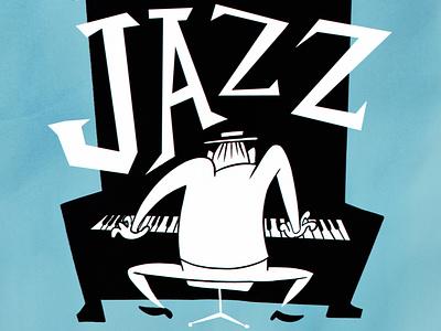 jazz poster cover jazz upa drawing cartoon 50s