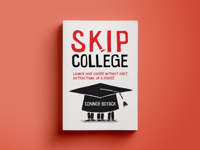Skip college illustration poster onga drawing 50s cartoon editorial education illustraion cover book cover art cover design editorial illustration