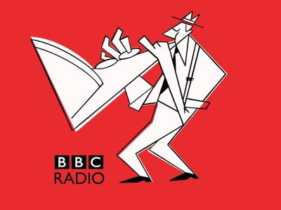BBC JAZZ web illustration webillustration radio retro music jazz bbc editorial illustration onga illustration drawing cartoon 50s