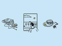 Quarantine Spot Illustrations