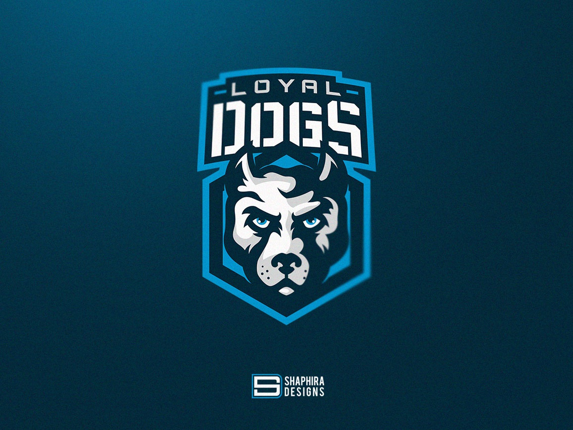 LOYAL DOGS Mascot Logo type vector mascot logo design mascot logo mascot logo illustration design branding loyalty dog logo dog mascot logo loyal dogs shaphira shaphiradesigns