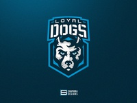 LOYAL DOGS Mascot Logo