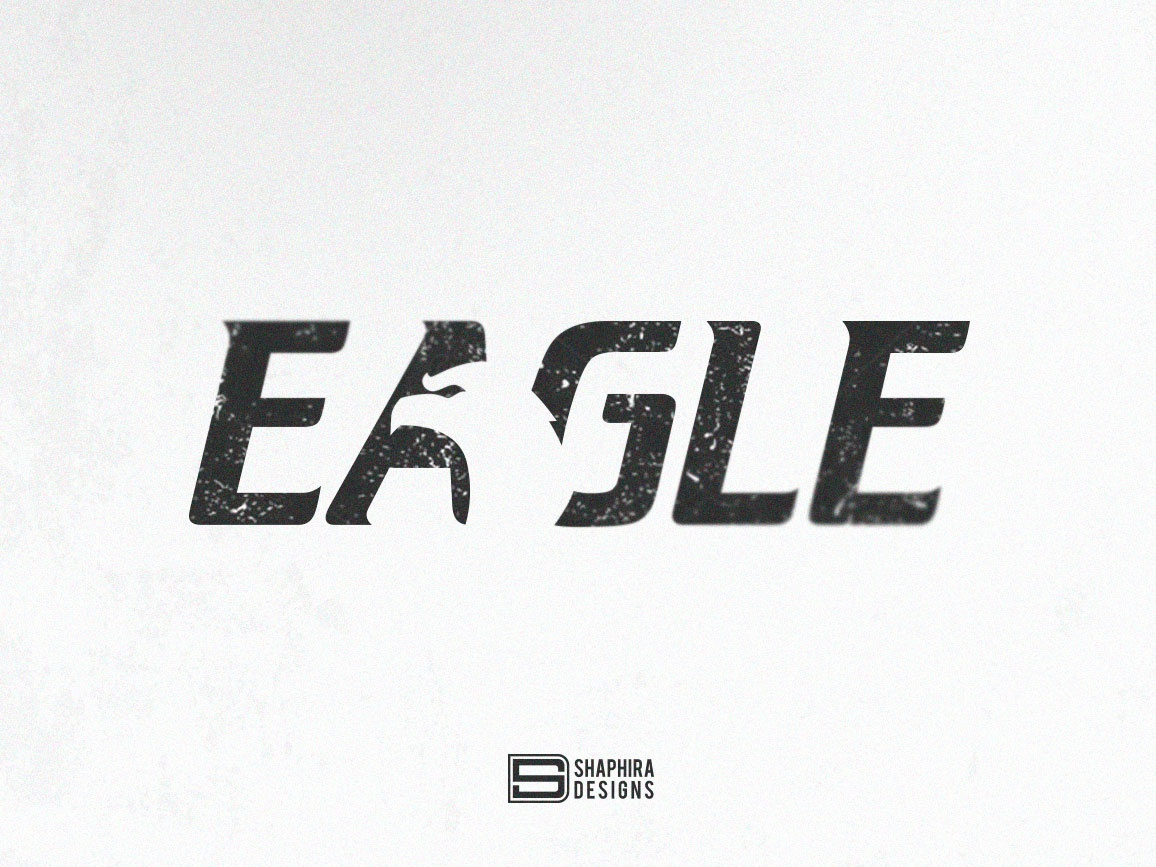 EAGLE Logo typography type vector logo illustration design branding logo design eagle concept eagle logo shaphira shaphiradesigns