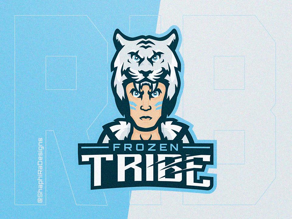 TRIBE Mascot Logo tribe logo tiger tigre typography logo design mascot logo design mascot logo mascot type vector shaphiradesigns shaphira logo illustration design branding