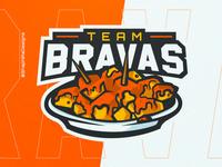 BRAVAS Mascot Logo mascot logo mascot type vector shaphiradesigns shaphira logo illustration design branding