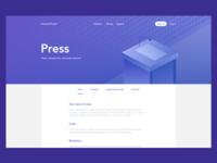 DailyUI #51: Press Page