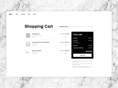 DailyUI #58: Shopping Cart