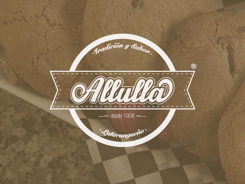 Allulla logo logotype clean illustrator identity illustration typography type logo branding vector minimal flat design