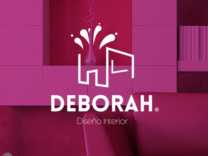 Deborah Brand | Interior Design brand web logotype clean illustrator identity illustration typography type logo branding vector minimal flat design