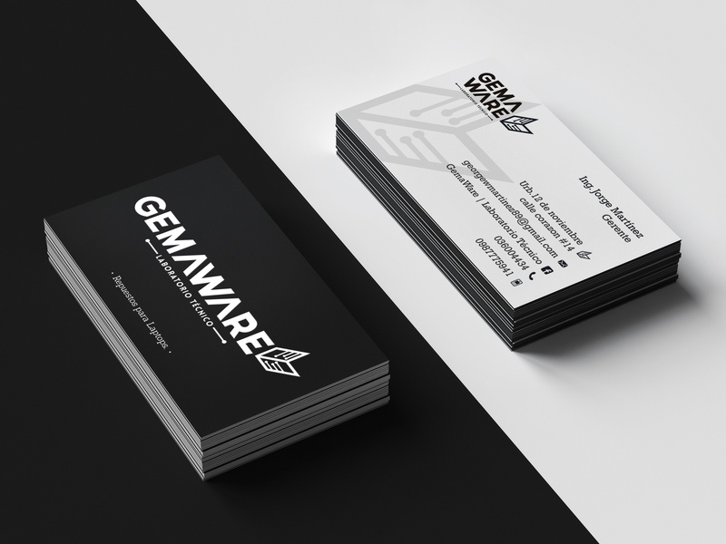 Gemaware Business Cards brand web logotype clean illustrator identity illustration typography type logo branding vector minimal flat design