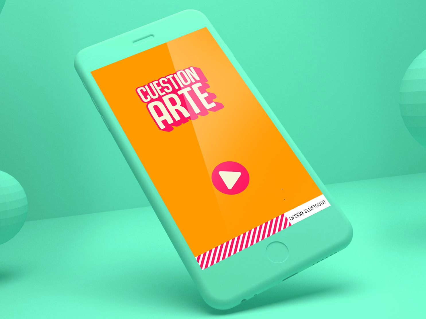 CUESTION-ARTE mobile icon app ux ui graphic design brand web logotype illustrator identity illustration typography type logo branding vector minimal flat design
