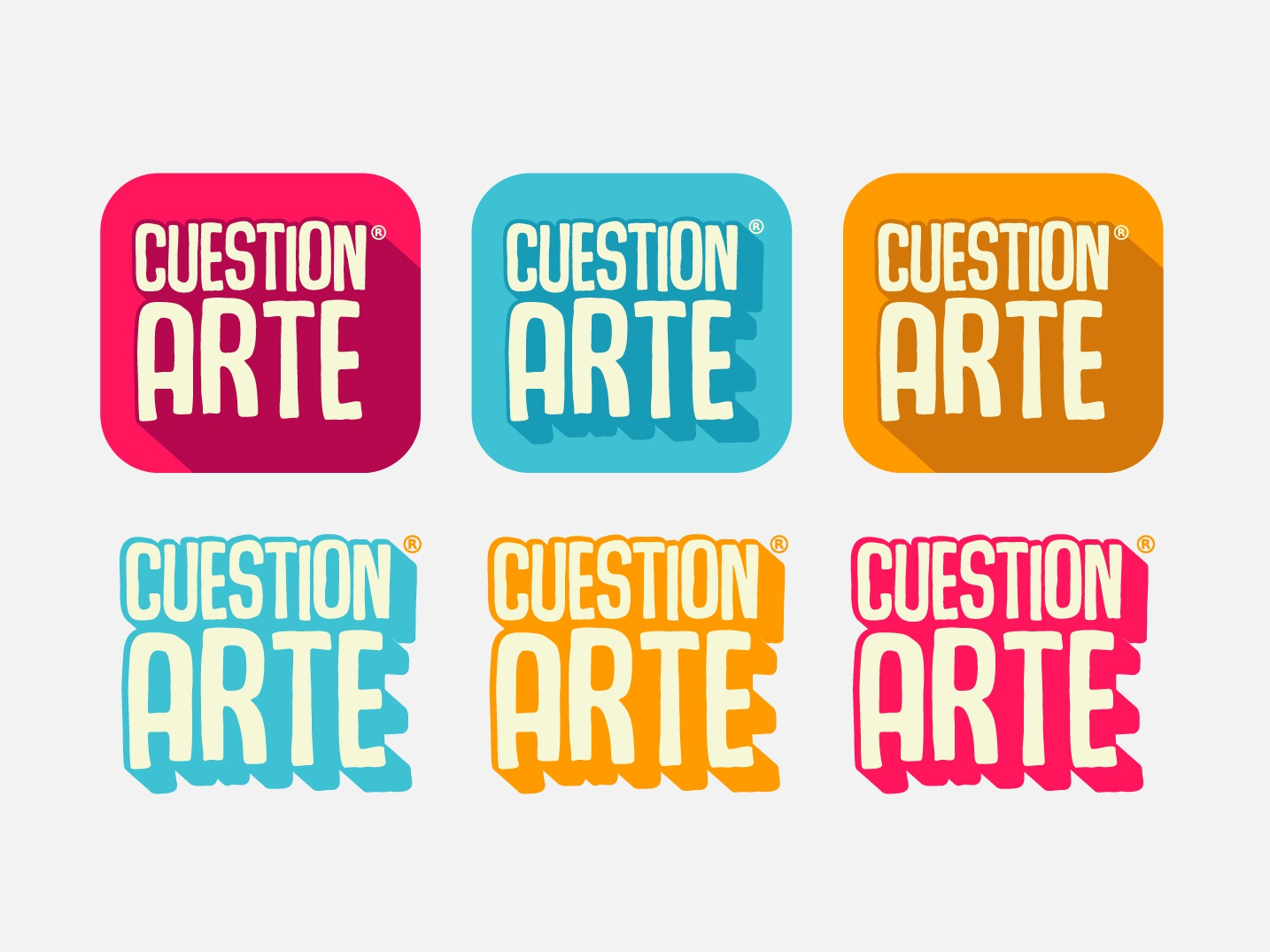 CUESTIONarte  Icon app mobile icon app ux ui graphic design brand web logotype illustrator identity illustration typography type logo branding vector minimal flat design