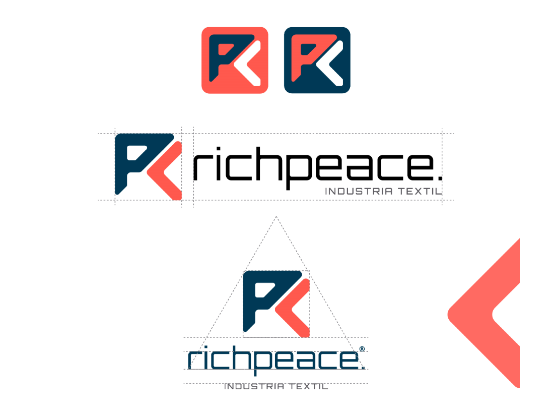 Richpeace Rebrand graphics graphic design brand web clean logotype illustrator identity illustration typography type logo branding vector minimal flat design