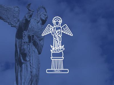 Citybadge Virgen del Panecillo Ecuador