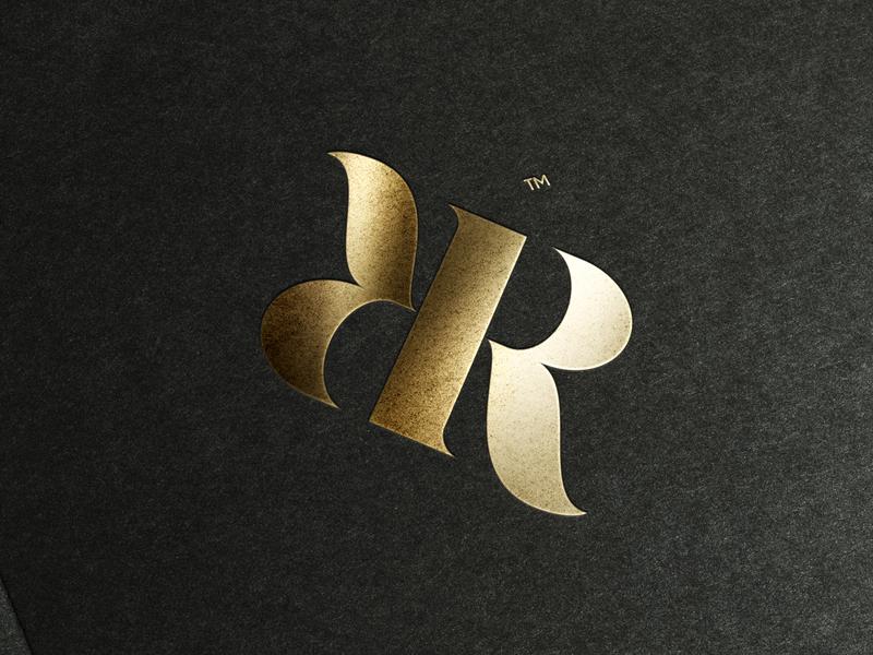 R&R Ambigram icon lettering graphics graphic design brand clean logotype illustrator identity illustration typography type logo branding vector monogram ambigram minimal flat design