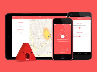 Sammy Screamer multi-platform ios ios7 android kitkat iot devices