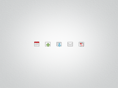 Icons icon icons calendar add mail pdf download vcard