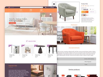Maynooth - Furniture Store Website design concept furniture website adobe xd