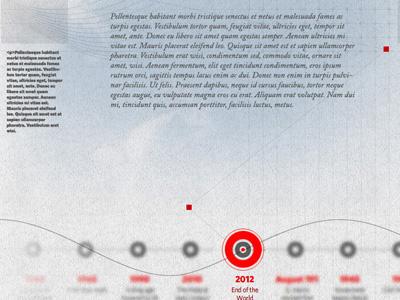 Timeline Concept website conceptual