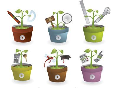 "Illustrations for ""Seeds"" Concept illustration vector"