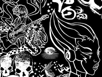 NihonGO! Detail from a Wine Bottle Illustration