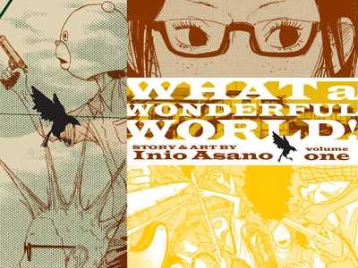 What a Wonderful World! graphic novel typography book design book jacket book cover print manga